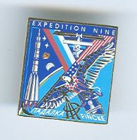 Expedition 9 ISS International Space Station Mission Lapel Pin Official NASA